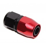 AN-12 AN12 Straight Swivel Fuel Oil Gas Line Hose End Fitting Adapter BLACK/RED